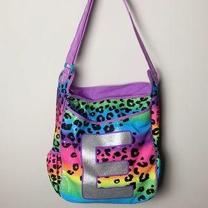 Justice crossbody bag in leopard print